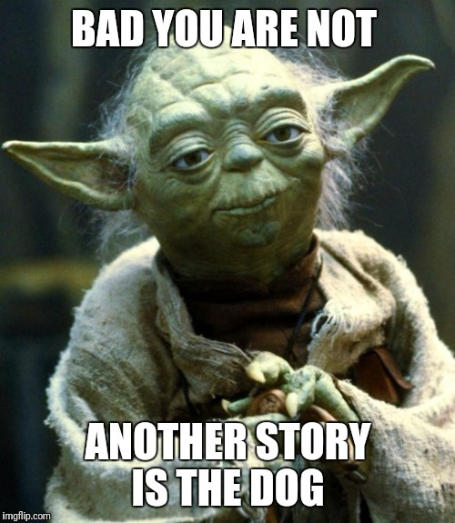 Star Wars Yoda Meme | BAD YOU ARE NOT ANOTHER STORY IS THE DOG | image tagged in memes,star wars yoda | made w/ Imgflip meme maker