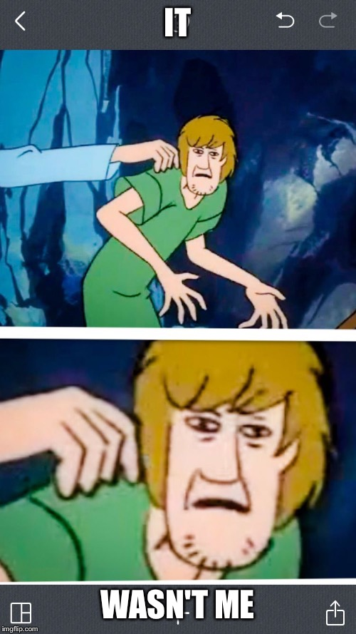 Shaggy | IT WASN'T ME | image tagged in shaggy | made w/ Imgflip meme maker