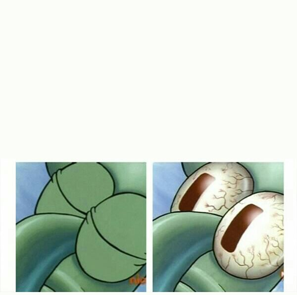 Sleeping Squidward Meme Template