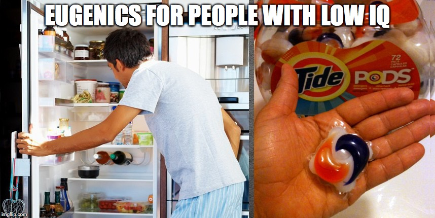 Tide Pod Challenge People Missing Chromosomes | EUGENICS FOR PEOPLE WITH LOW IQ | image tagged in tide pod challenge,genetics | made w/ Imgflip meme maker