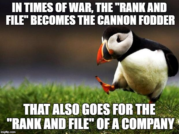 "And so much for the bromides about ""our most valuable asset""! 