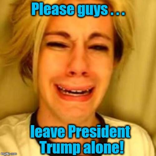 He only has three more years to go! | Please guys . . . leave President Trump alone! | image tagged in leave britney alone | made w/ Imgflip meme maker