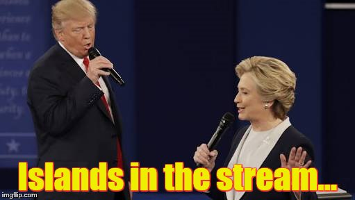 Duets night at the karaoke bar | Islands in the stream... | image tagged in karaoke time | made w/ Imgflip meme maker