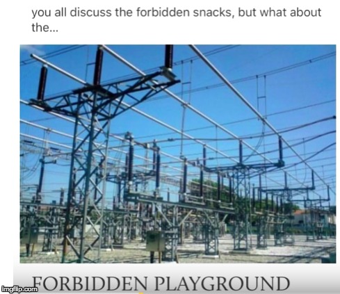image tagged in forbidden,playground | made w/ Imgflip meme maker