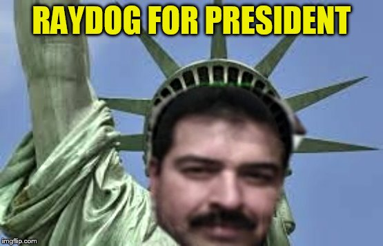 Raydog For President  | RAYDOG FOR PRESIDENT | image tagged in raydog for president | made w/ Imgflip meme maker