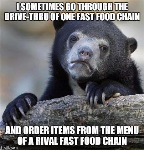 """Welcome to Wendy's! What can I get you?"" // ""Yes, I'll have two Big Macs and two Happy Meals and a large Coke, please."" 