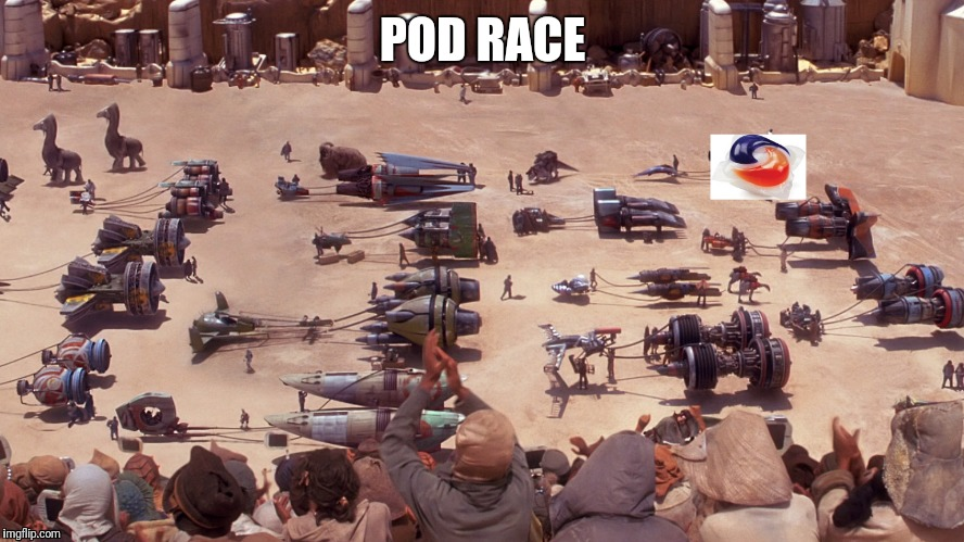 Pod race | POD RACE | image tagged in star wars,pod,tide,race | made w/ Imgflip meme maker