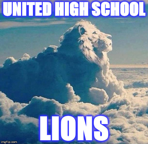 UNITED HIGH SCHOOL LIONS | image tagged in lion | made w/ Imgflip meme maker
