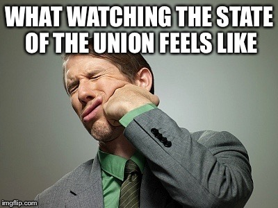 Trump state of the union  | WHAT WATCHING THE STATE OF THE UNION FEELS LIKE | image tagged in donald trump,state of the union,united states | made w/ Imgflip meme maker