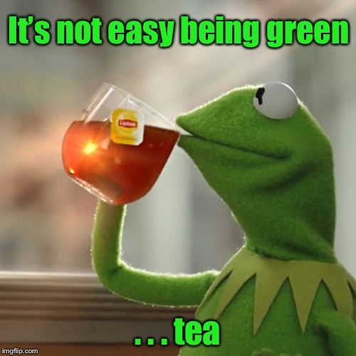 But Thats None Of My Business Meme | It's not easy being green . . . tea | image tagged in memes,but thats none of my business,kermit the frog | made w/ Imgflip meme maker