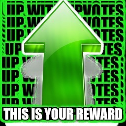 THIS IS YOUR REWARD | image tagged in upvote | made w/ Imgflip meme maker