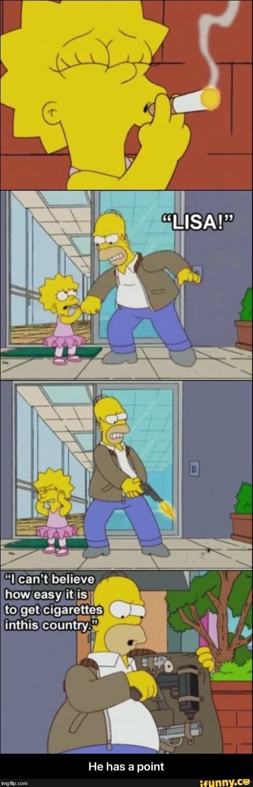 Lisa smokes | image tagged in funny | made w/ Imgflip meme maker