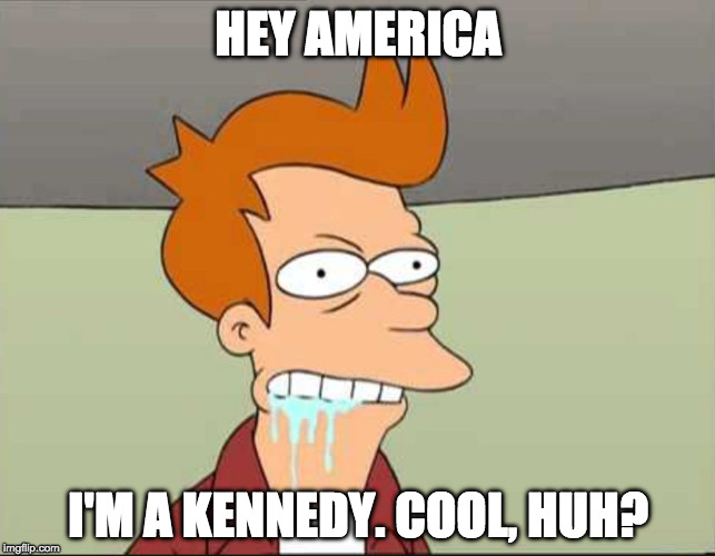 Democrats be like: | HEY AMERICA I'M A KENNEDY. COOL, HUH? | image tagged in joe kennedy iii,donald trump,state of the union,joe kennedy,kennedy,democrats | made w/ Imgflip meme maker