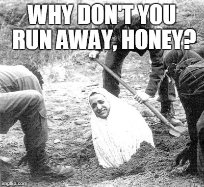 WHY DON'T YOU RUN AWAY, HONEY? | made w/ Imgflip meme maker