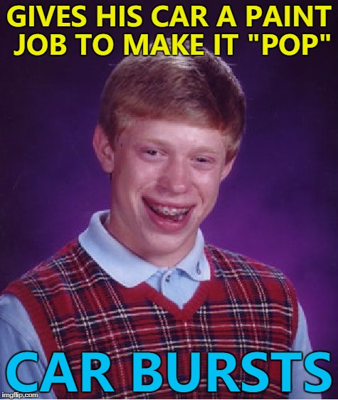 "He was pretty emulsional... :) | GIVES HIS CAR A PAINT JOB TO MAKE IT ""POP"" CAR BURSTS 