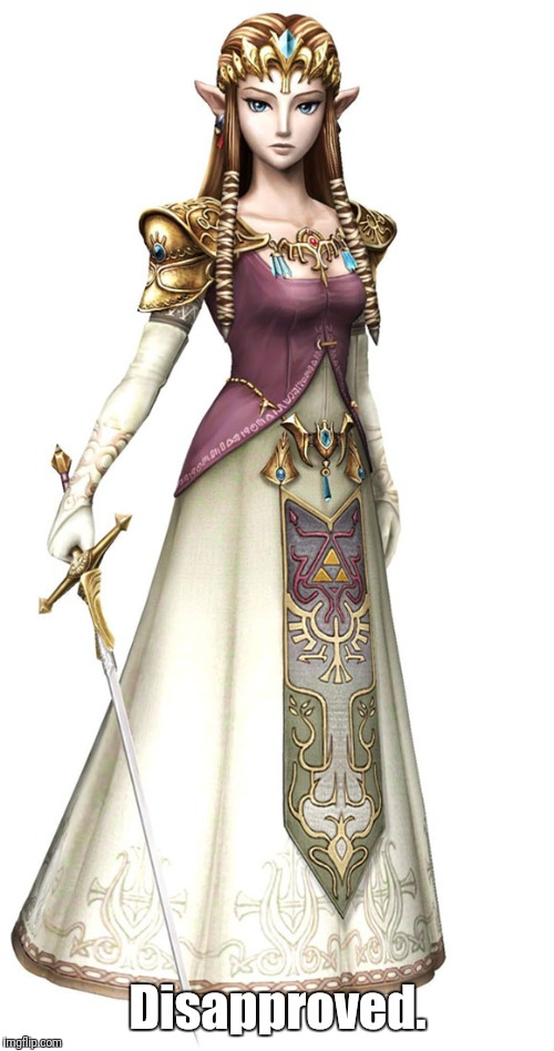 Princess Zelda | Disapproved. | image tagged in princess zelda | made w/ Imgflip meme maker
