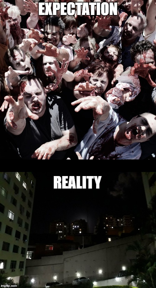 Super Blood Moon Expectation | EXPECTATION REALITY | image tagged in astronomy,funny,zombies | made w/ Imgflip meme maker
