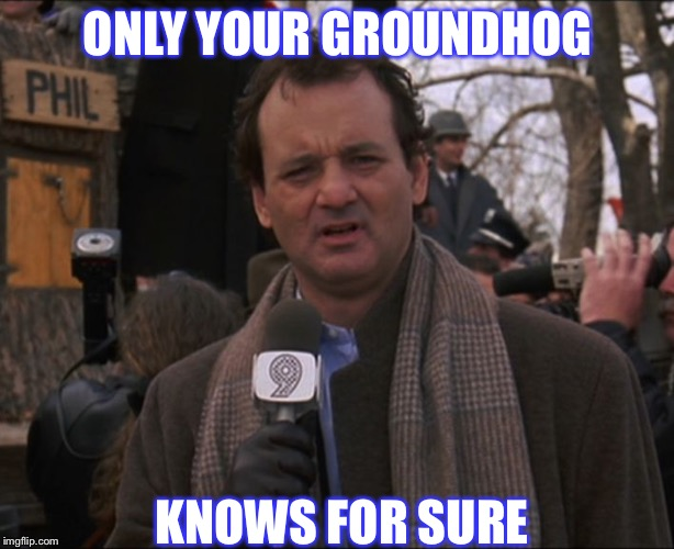 Bill Murray Groundhog Day | ONLY YOUR GROUNDHOG KNOWS FOR SURE | image tagged in bill murray groundhog day | made w/ Imgflip meme maker