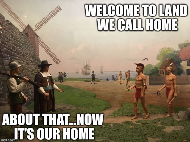 They never saw it coming... | WELCOME TO LAND WE CALL HOME ABOUT THAT...NOW IT'S OUR HOME | image tagged in two worlds one place,memes,funny memes | made w/ Imgflip meme maker