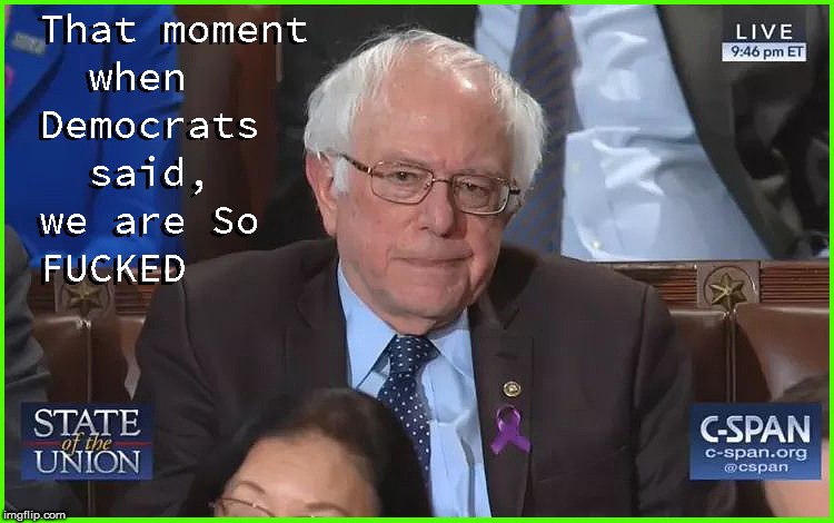 The State of the Union in one Pic-part B | image tagged in state of the union,current events,politics lol,funny memes,bernie sanders,political meme | made w/ Imgflip meme maker
