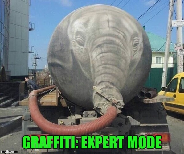 This doesn't stink | GRAFFITI: EXPERT MODE | image tagged in graffiti,expert mode,pipe_picasso | made w/ Imgflip meme maker