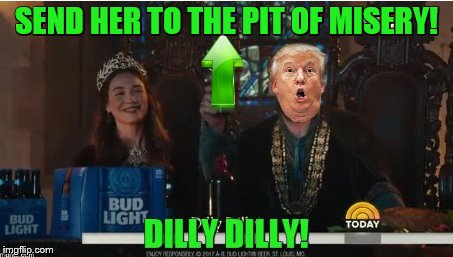 SEND HER TO THE PIT OF MISERY! | made w/ Imgflip meme maker