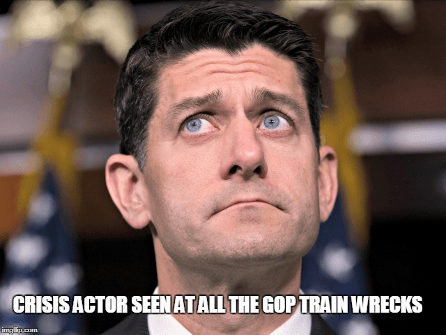 CRISIS ACTOR SEEN AT ALL THE GOP TRAIN WRECKS | image tagged in crisis actor,train wreck,paul ryan | made w/ Imgflip meme maker