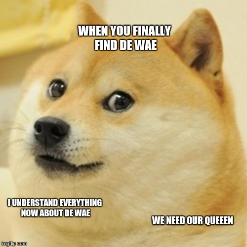 Doge Meme | WHEN YOU FINALLY FIND DE WAE I UNDERSTAND EVERYTHING NOW ABOUT DE WAE WE NEED OUR QUEEEN | image tagged in memes,doge | made w/ Imgflip meme maker