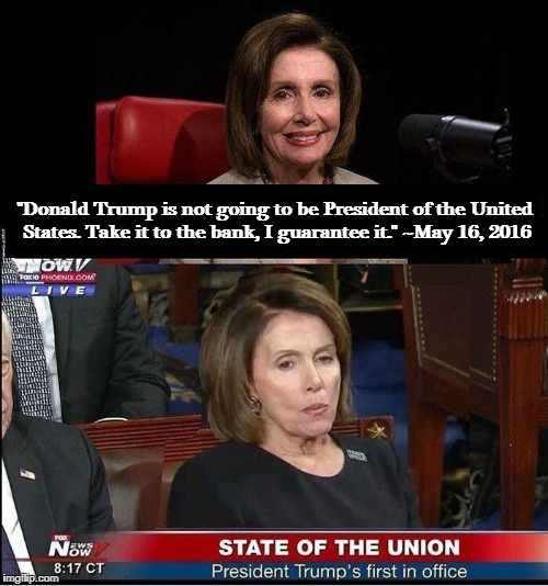 "Almost as fun as those post-election reaction videos. | ""Donald Trump is not going to be President of the United States. Take it to the bank, I guarantee it."" ~May 16, 2016 