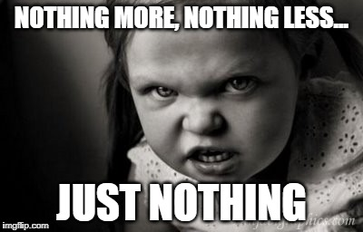 The Essence of Nihilism | NOTHING MORE, NOTHING LESS... JUST NOTHING | image tagged in nihilism | made w/ Imgflip meme maker