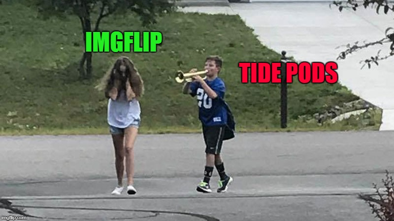 It's so stupid we can't let it go!!! | IMGFLIP TIDE PODS | image tagged in trumpet boy object labeling,memes,tide pods,funny,true story | made w/ Imgflip meme maker