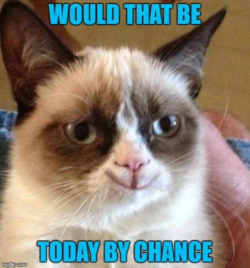WOULD THAT BE TODAY BY CHANCE | made w/ Imgflip meme maker