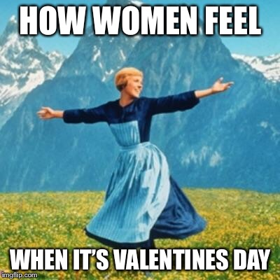 Valentines  | HOW WOMEN FEEL WHEN IT'S VALENTINES DAY | image tagged in valentines | made w/ Imgflip meme maker