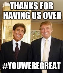 THANKS FOR HAVING US OVER #YOUWEREGREAT | made w/ Imgflip meme maker