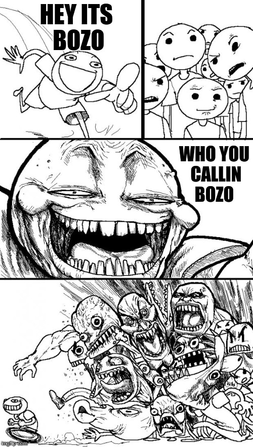 Hey Internet Meme | HEY ITS BOZO WHO YOU CALLIN BOZO | image tagged in memes,hey internet | made w/ Imgflip meme maker