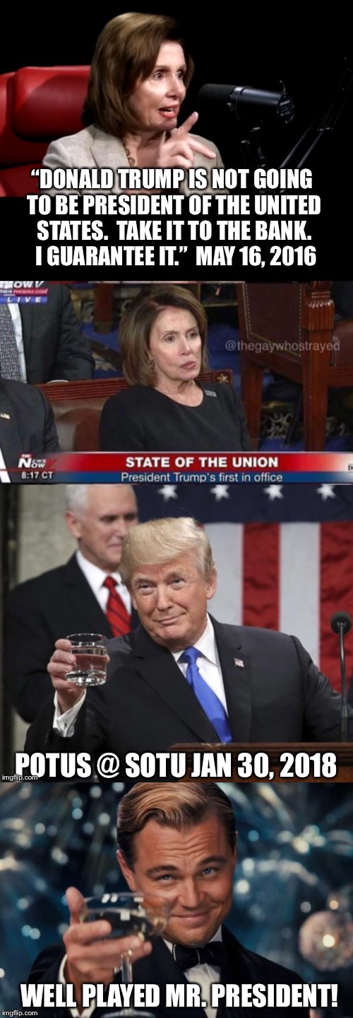 keep exposing the DNC as the anti-America trash they are, and only illegals will vote for them in November! | WELL PLAYED MR. PRESIDENT! | image tagged in donald trump,sotu | made w/ Imgflip meme maker