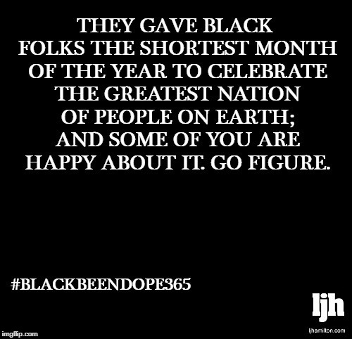 #BlackBeenDope365 | image tagged in black,history,month,men,women,nation | made w/ Imgflip meme maker