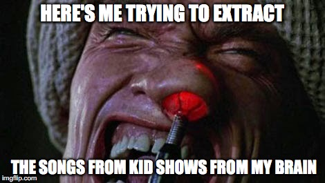 Extracting Kid's Songs | HERE'S ME TRYING TO EXTRACT THE SONGS FROM KID SHOWS FROM MY BRAIN | image tagged in kids,parenting,ear worm,arnold,arnold schwarzenegger,total recall | made w/ Imgflip meme maker