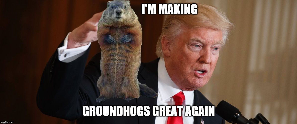 I'M MAKING GROUNDHOGS GREAT AGAIN | made w/ Imgflip meme maker