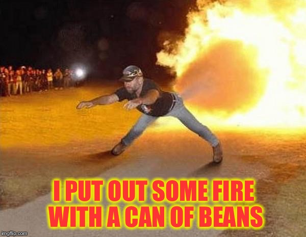 I PUT OUT SOME FIRE WITH A CAN OF BEANS | made w/ Imgflip meme maker