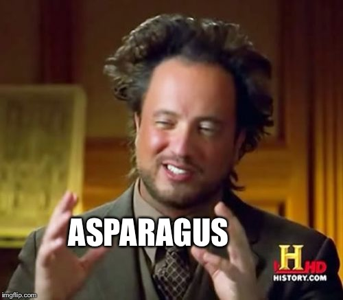 Ancient Aliens Meme | ASPARAGUS | image tagged in memes,ancient aliens | made w/ Imgflip meme maker