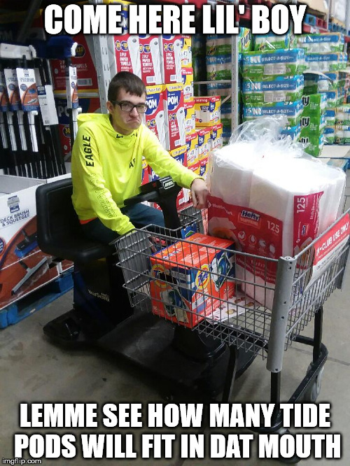 23v936 image tagged in tide pods,shopping cart imgflip