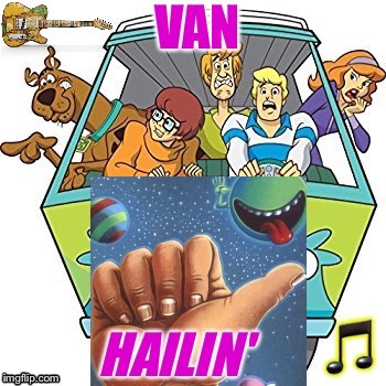 Thumb's Up | . | image tagged in van halen,carnival phantasm,rock and roll,scooby doo,vans | made w/ Imgflip meme maker