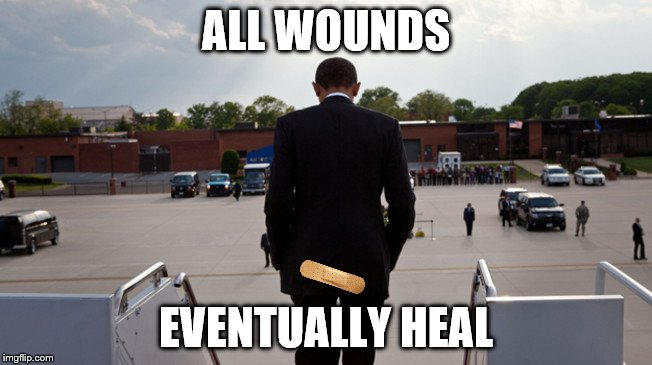 ALL WOUNDS EVENTUALLY HEAL | made w/ Imgflip meme maker