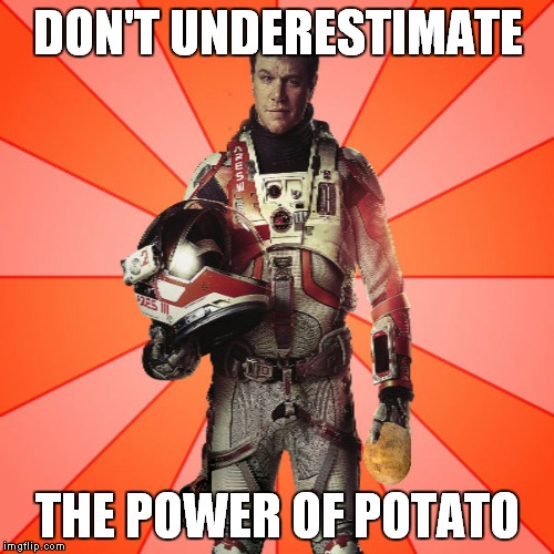 Got Potato? | DON'T UNDERESTIMATE THE POWER OF POTATO | image tagged in got potato | made w/ Imgflip meme maker