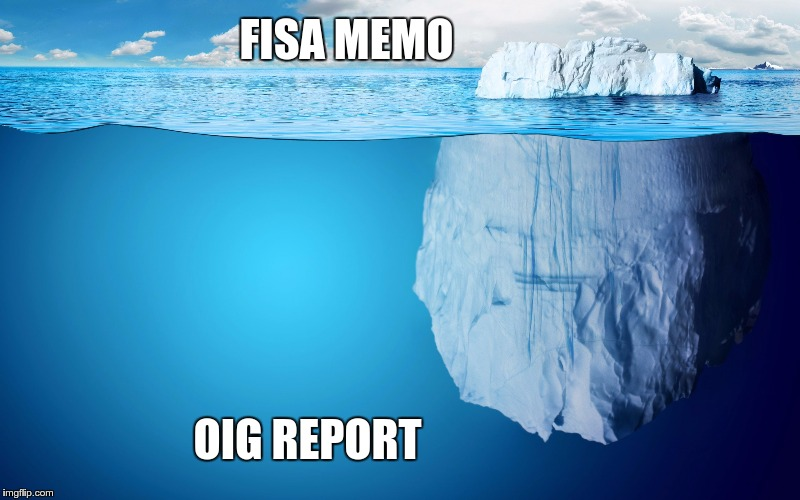 It Begins | FISA MEMO OIG REPORT | image tagged in political fbi corruption memo | made w/ Imgflip meme maker
