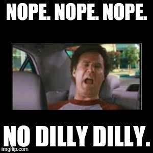 Step brothers  | NOPE. NOPE. NOPE. NO DILLY DILLY. | image tagged in step brothers | made w/ Imgflip meme maker