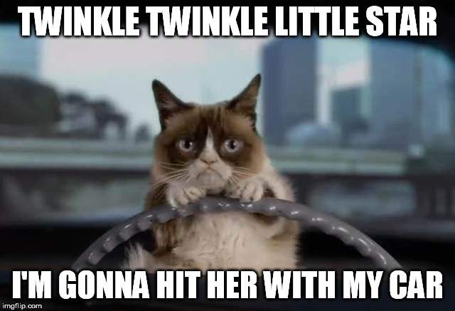 TWINKLE TWINKLE LITTLE STAR I'M GONNA HIT HER WITH MY CAR | made w/ Imgflip meme maker
