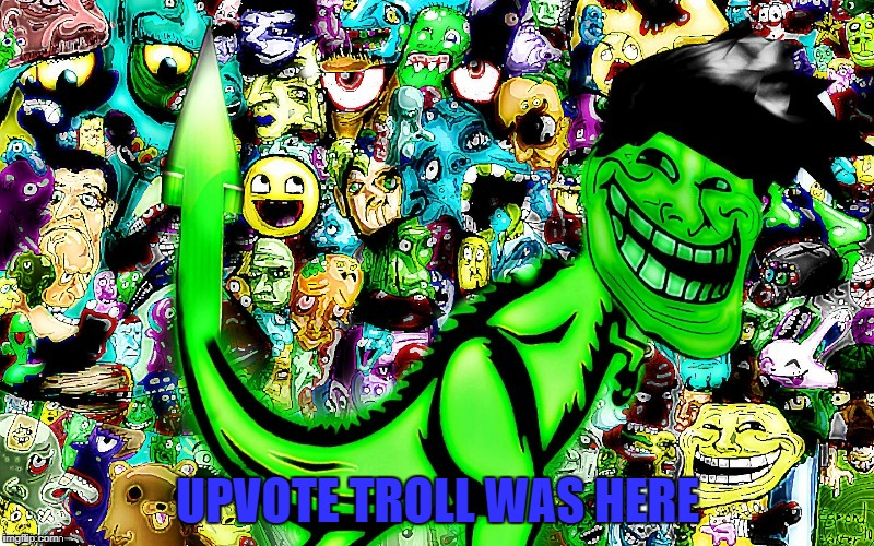 troll by jying | UPVOTE TROLL WAS HERE | image tagged in troll by jying | made w/ Imgflip meme maker