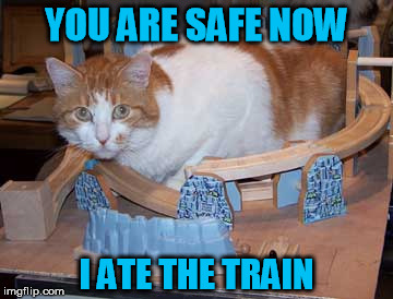 YOU ARE SAFE NOW I ATE THE TRAIN | made w/ Imgflip meme maker